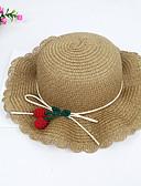 זול ילדים צעיפים-מידה אחת ורוד מסמיק / בז' / חאקי כובעים ומצחיות פוליאסטר תחרה / פפיון / מסוגנן אחיד / פירות וינטאג' / פעיל / בסיסי בנות ילדים / פעוטות