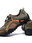 זול כבל & מטענים iPhone-בגדי ריקוד גברים נעלי ספורט נעלי טיולי הרים נושם נגד החלקה נוח ריצה צעידה הליכה סתיו אביב שחור חום חום + אפור אפור