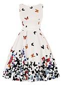 זול שמלות לילדות פרחים-גזרת A עם תכשיטים קצר \ מיני פוליאסטר מסיבת קוקטייל שמלה עם דוגמא \ הדפס על ידי LAN TING Express