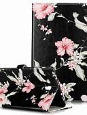זול מגנים לטלפון-מגן עבור Samsung Galaxy Tab S4 10.5 (2018) / Tab A2 10.5 (2018) T595 T590 / Samsung S5e T520 10.5 ארנק / מחזיק כרטיסים / עם מעמד כיסוי מלא פרח קשיח עור PU