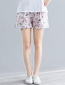 ราคาถูก กางเกงขาสั้น-สำหรับผู้หญิง Chinoiserie กางเกง Chinos / กางเกงขาสั้น กางเกง - ลายดอกไม้ ดอกไม้ดวงอาทิตย์, ลายต่อ / ลายพิมพ์ สีแดงชมพู สีเทา XL XXL XXXL