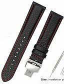 hesapli Deri Saat Bandı-Gerçek Deri / Deri / Buzağı Tüyü Watch Band kayış için Siyah 17cm / 6.69 inç / 18cm / 7 İnç / 19cm / 7.48 İnç 1cm / 0.39 İnç / 1.2cm / 0.47 İnç / 1.3cm / 0.5 İnç