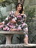 preiswerte Damen zweiteilige Anzüge-Damen Grundlegend Set - Geometrisch, Druck Hose