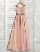 זול שמלות שושבינה-גזרת A עם תכשיטים מקסי שיפון שמלה לשושבינות הצעירות  עם תחרה / סרט על ידי LAN TING BRIDE®