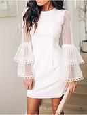 hesapli Büyük Beden Elbiseleri-Kadın's Zarif A Şekilli Elbise Diz üstü