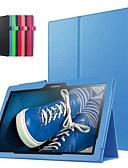 זול מגנים לטלפון-מגן עבור Lenovo Lenovo Tab 3 10 Business (TB3-X70F / N) עמיד בזעזועים / עם מעמד / אולטרה דק כיסוי מלא אחיד קשיח עור PU