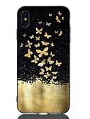 זול מגנים לאייפון-מגן עבור Apple iPhone XS / iPhone XR / iPhone XS Max עמיד בזעזועים / תבנית כיסוי אחורי פרפר רך TPU