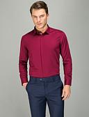 זול חולצות-אחיד עסקים חולצה - בגדי ריקוד גברים פוקסיה