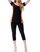 halpa Yksiosaiset uima-asut-Naisten Perus Olkaimellinen Oranssi Harmaa Purppura Alushousut Tankini Uima-asut - Yhtenäinen Color Block XL XXL XXXL Oranssi