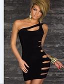 hesapli Mini Elbiseler-Kadın's Temel Sokak Şıklığı Bandaj Elbise - Solid, Arkasız Şalter Diz üstü