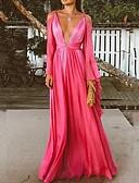 זול שמלות ערב-גזרת A צלילה עד הריצפה שיפון גב פתוח ערב רישמי שמלה עם על ידי LAN TING Express