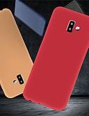 זול מגנים לטלפון-מגן עבור Samsung Galaxy J6 (2018) / J6 Plus / J5 (2017) עמיד בזעזועים / אולטרה דק / מזוגג כיסוי אחורי אחיד רך TPU