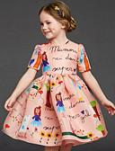 זול חולצות לבנות-שמלה אנימציה ורד מאובק בנות ילדים
