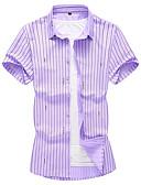 povoljno Muške polo majice-Majica Muškarci - Osnovni Dnevni Nosite Prugasti uzorak Navy Plava XXXXL