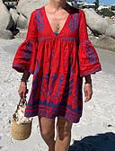 abordables Vestidos de Mujer-Mujer Básico Vaina Vestido Geométrico Sobre la rodilla