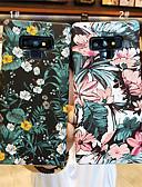זול מגנים לטלפון-מגן עבור Samsung Galaxy S9 / S9 Plus / S8 Plus מזוגג / תבנית כיסוי אחורי פרח קשיח PC
