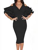 זול שמלות NYE-מידי טלאים, אחיד - שמלה נדן בגדי ריקוד נשים