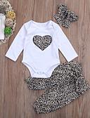 זול חולצות לתינוקות-סט של בגדים שרוול ארוך נמר בנות תִינוֹק