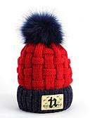 זול ילדים כובעים ומצחיות-מידה אחת כחול נייבי / אפור / צהוב צעיפים פוליאסטר אחיד / אותיות בסיסי יוניסקס ילדים