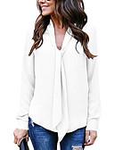 hesapli Gömlek-Kadın's V Yaka Salaş - Bluz Solid Bej