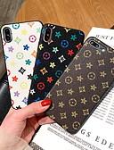 זול מגני מסך ל-iPhone-מגן עבור Apple iPhone XR / iPhone XS Max / iPhone X תבנית כיסוי אחורי תבנית גאומטרית קשיח עור PU