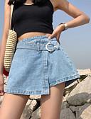 ieftine Salopete Damă-Pentru femei De Bază Pantaloni Scurți Pantaloni - Mată Albastru piscină M L XL