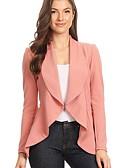 povoljno Ženske haljine-Žene Sako, Jednobojni V izrez Poliester Crn / Blushing Pink / Žutomrk M / L / XL