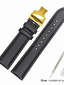hesapli Deri Saat Bandı-Gerçek Deri / Deri / Buzağı Tüyü Watch Band kayış için Siyah Diğer / 19cm / 7.48 İnç 1.6cm / 0.6 İnç / 1.8cm / 0.7 İnç / 2cm / 0.8 İnç