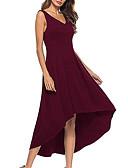 povoljno Maxi haljine-Žene Sofisticirano Swing kroj Haljina - Kolaž, Jednobojni Maxi