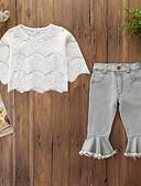 זול סטים של ביגוד לתינוקות-סט של בגדים שרוול ארוך פרחוני בנות תִינוֹק