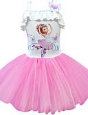 זול שמלות לבנות-שמלה מעל הברך ללא שרוולים טלאים / אנימציה פעיל / סגנון רחוב בנות ילדים / פעוטות