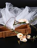 זול טוקסידו-טול עם פרח חלק 1 חתונה / קזו'אל כיסוי ראש