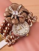 זול שעונים-בגדי ריקוד נשים שעון שרשרת קווארץ שעונים יום יומיים אנלוגי אופנתי - לבן זהב אדום