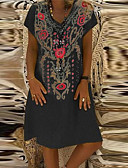 hesapli İki Parça Kadın Takımları-Kadın's Temel Boho Kılıf Elbise - Geometrik Midi