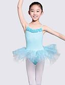 זול בגדי ים לבנים-בגדי ריקוד לילדים / בלט בגדי גוף בנות הצגה כותנה מפרק מפוצל ללא שרוולים / סרבל תינוקותבגד גוף
