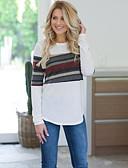 hesapli Gömlek-Kadın's Tişört Kırk Yama / Desen, Çizgili Temel Beyaz