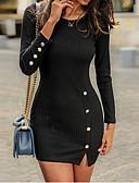 povoljno Sweater Dresses-Žene Osnovni Korice Haljina Jednobojni Iznad koljena