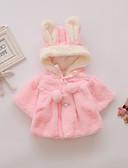 povoljno Vanjska odjeća za bebe-Dijete Djevojčice Aktivan / Osnovni Jednobojni / Kolaž Jakna i kaput Red