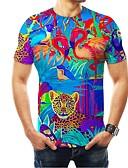 voordelige Heren T-shirts & tanktops-Heren T-shirt 3D Regenboog US42 / UK42 / EU50
