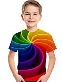 povoljno Majice za dječake-Djeca Dijete koje je tek prohodalo Dječaci Aktivan Osnovni Geometrijski oblici Print Color block Print Kratkih rukava Majica s kratkim rukavima Duga