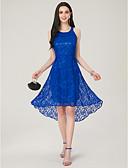 رخيصةأون فساتين حسب الطلب-A-الخط جوهرة متوازي دانتيل فستان مع إضافات الدانتيل بواسطة LAN TING Express