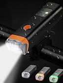 זול להקות Smartwatch-LED פנסי אופניים פנס קדמי לאופניים רכיבת אופניים עמיד במים מסתובב360מעלות מצבי מרובות 350 lm USB 18650 ניתן לטעינה שחור רכיבה על אופניים / סופר מואר / זויית רחבה / אינדוקציה חכמה / סגסוגת אלומיניום