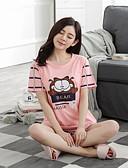 abordables Pijamas-Mujer Traje Ropa de dormir Rosa M L XL