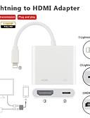 זול כבל & מטענים iPhone-HDMI Adapteri 41641.0 / 1080P TPE מתאם כבל USB עבור iPad / iPhone