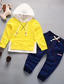 זול סטים של ביגוד לתינוקות-סט של בגדים שרוול ארוך אחיד בנים תִינוֹק