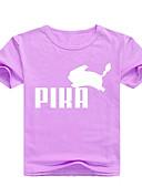 זול חולצות לבנים-טישירט כותנה שרוולים קצרים דפוס דפוס בסיסי בנים ילדים / פעוטות