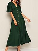 abordables Vestidos de Mujer-Mujer Vaina Vestido - Retazos, Un Color Midi
