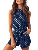 cheap Dresses For Date-Women's Light gray Blushing Pink Royal Blue Romper, Polka Dot S M L