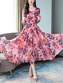 baratos Vestidos Longos-Mulheres balanço Vestido Floral Longo