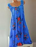 povoljno Ženske haljine-Žene Boho A kroj Haljina - Čipka Naborano Kolaž, Cvjetni print Iznad koljena Rose